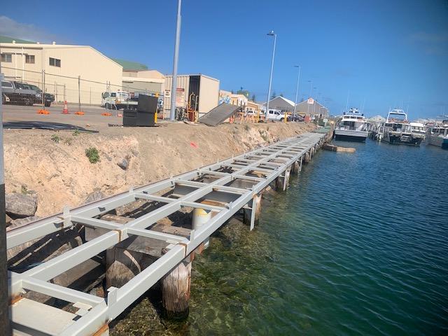 Geraldton wharf repairs and restoration