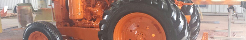 abrasive blasting for tractors